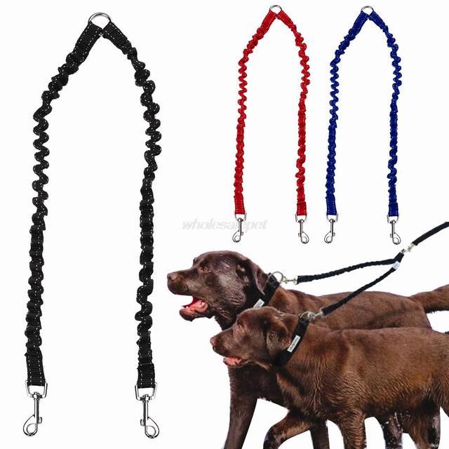 Doppio Guinzaglio Del Cane Elastico Attrezzature Bungee Pet Accoppiatore A Piedi