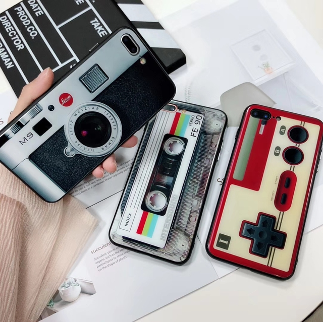 Fashion GAMEBOY Tempered Glass case for iPhone