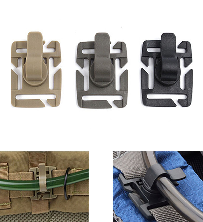 Outdoor Backpack Water Bag Hose Pipe Clamp Hydration Packs Clips Tool 2Co