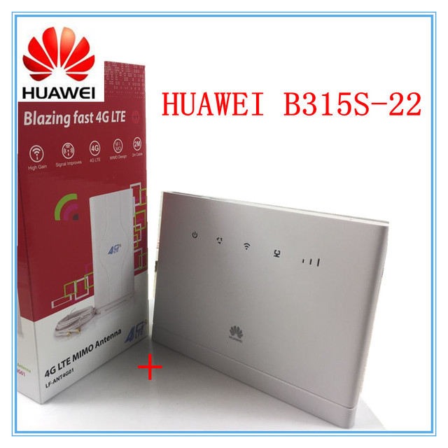 US $113 05 5% OFF Unlocked Huawei B315 B315s 22 + 49 DBI 4G Antenna 150Mbps  CAT4 4G cpe wifi router 3g 4g mifi CPE wireless Router PK HUAWEI B593 -in