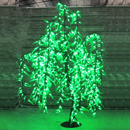 LED Sztuczna wierzba Weeping Tree Light Outdoor Use 840pcs LEDs 1.5m / 5ft Wysokość Rainproof Christmas Decoration Tree