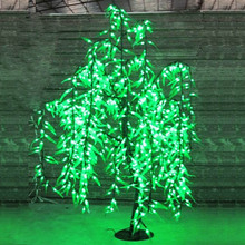 LED Artificial Willow Weeping Tree Light Outdoor Use 840pcs LEDs 1.5m/5ft Height Rainproof Christmas Decoration Tree
