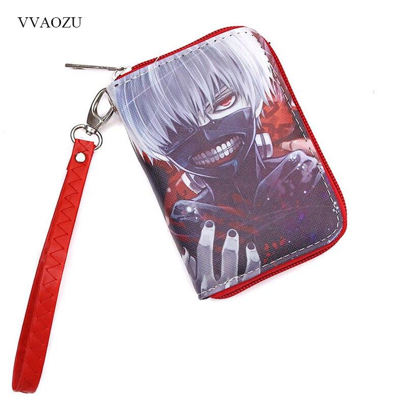Tokyo Ghoul Men Wallets PU Leather Zipper Wallet Kaneki Ken Women Card Holder Coin Pocket Men's Purse Male Carteira