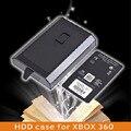 Alta calidad 250 gb hdd caso caja para disco duro externo caja de la cubierta de shell para microsoft xbox 360 slim negro promoción