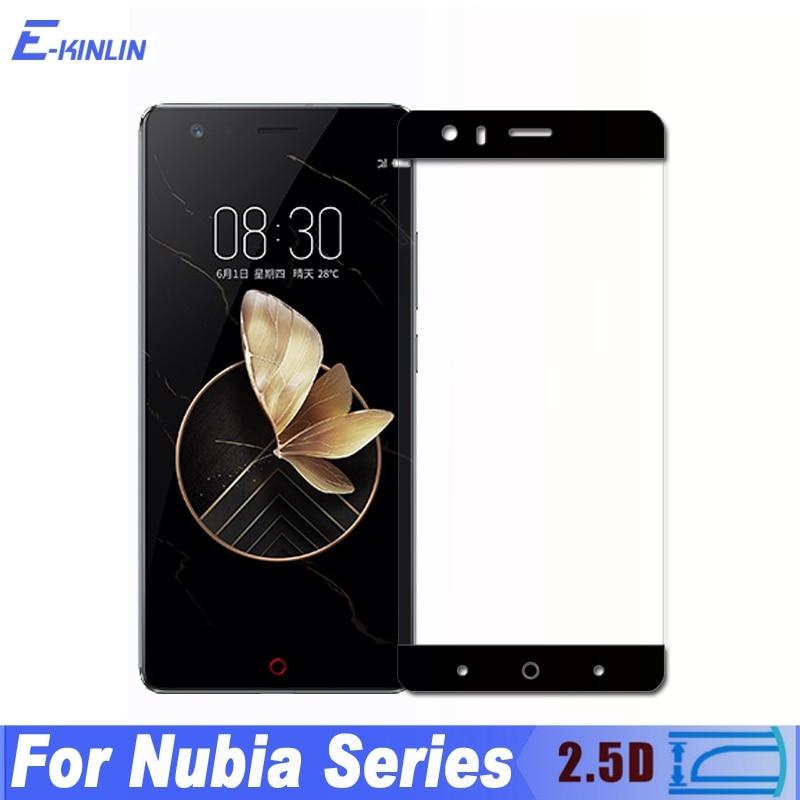 0.3mm 2.5D Full Cover Tempered Glass For ZTE Nubia Z18 Z17S Z17 Z11 Max mini S Premium M2 Screen Protector Protective Film