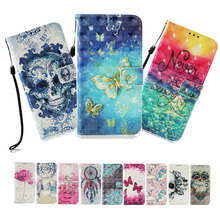 LUCKBUY Case For LG G7 K8 K10 K30 for 3D Printed Flip Wallet PU Leather Cover Stylo 4 Q Stylus Aristo 2018