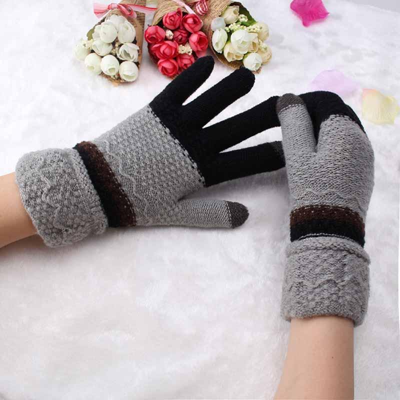 Girls Female font b Gloves b font Wool Knitted font b Winter b font font b