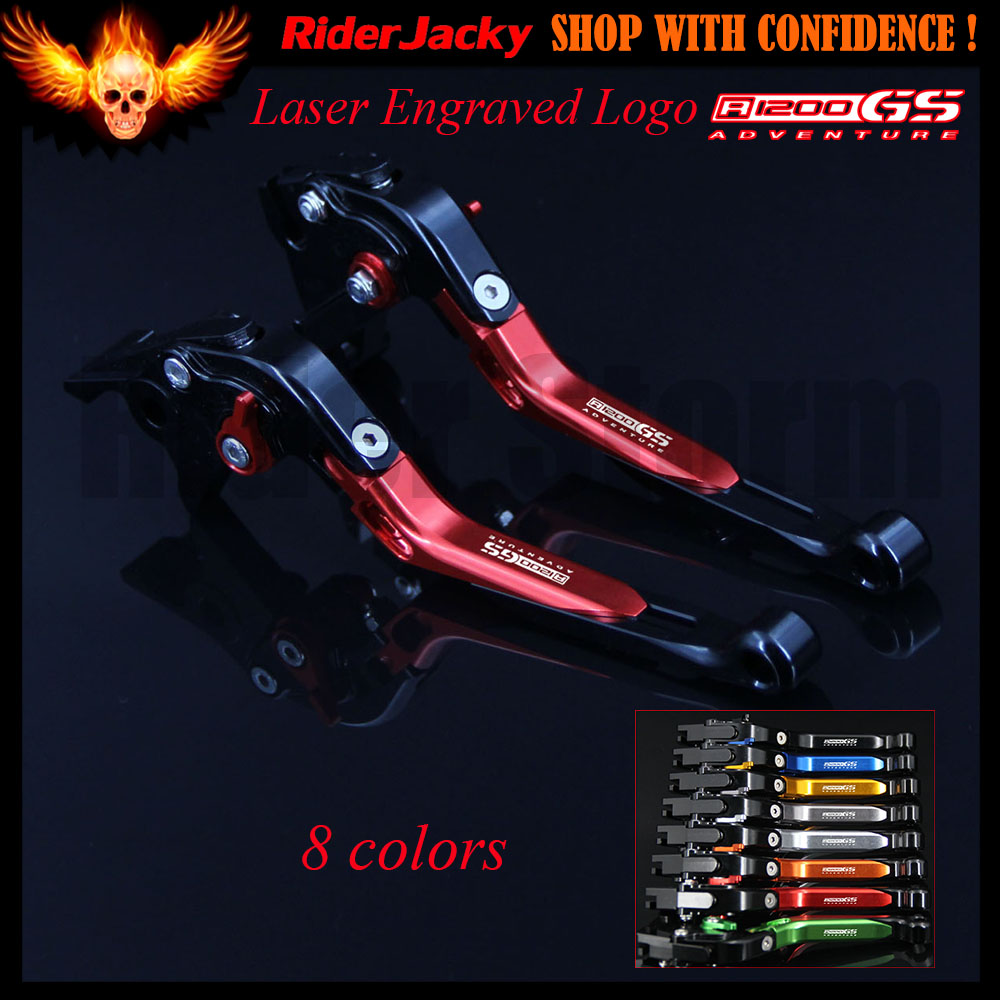 Red&Black Motorcycle CNC Adjustable Brake Clutch Levers For BMW R1200GS Adventure (LC) R 1200GS Adventure 2014-2017 2015 2016 for bmw r1200gs adventure lc 2014 2016 2015 one pair cnc motorcycle brake clutch levers short 10 colors aluminum alloy