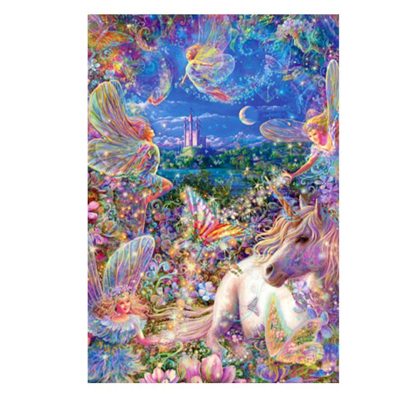 5D DIY Diamond Painting Embroidery Mosaic Picture Fantasy Horse Full Rhinestone Cross Stitch Craft Holiday Decor