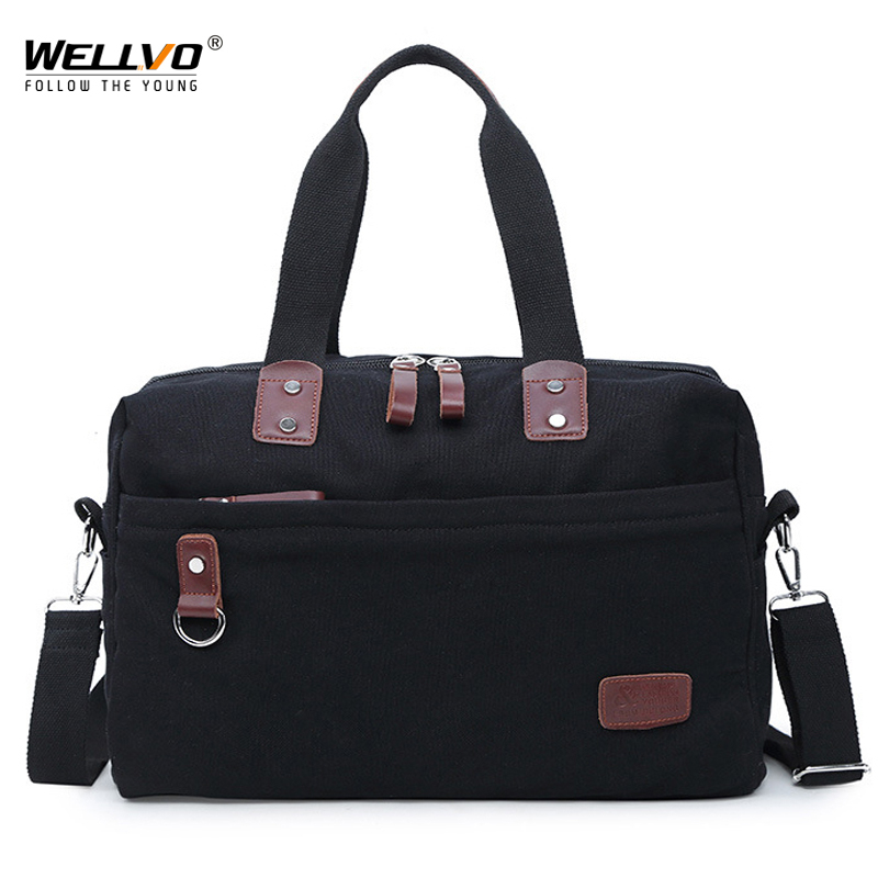 Vintage Canvas Bag for Men's Multifunctional Messenger Bag Crossbody Book bags men daily handbag Male Travel briefcase XA118WC augur men s messenger bag multifunction canvas leather crossbody bag men military army vintage large shoulder bag travel bags