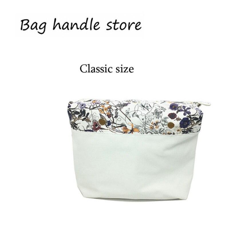 1 adet klasik beyaz çiçek ekler astar iç çanta o büyük çanta için 2017 ücretsiz kargo