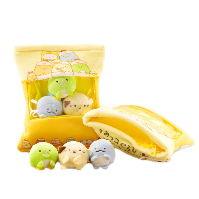 A Bag Of Sumikko Gurashi Plush 2pcs 3pcs Mini Plush Toy Nano Doll Soft Stuffed Pillow Corner Bio Cartoon Doll For Kids