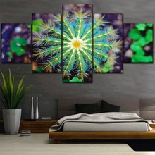 High Quality Canvas Print Poster Wall Art 5 Piece Cactus Plant Painting Home Decorative Artwork Modular HD Pictures Framework