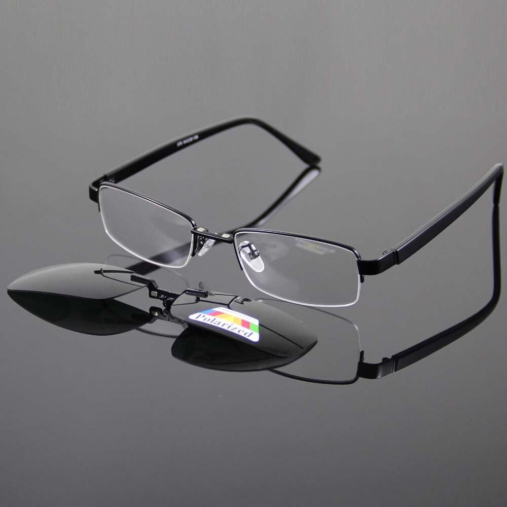 b9c0dc4803 Buy Best Wholesale Super Light Men s Glasses Frame And Magnetic Clip on  Sunglasses UV400 Deep Green Polarized Sunglasses for Sale
