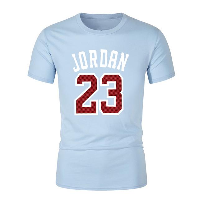 2019 new Fashion Brand shirt Jordan23 Letter Printed Fashionable Round Neck T-shirts Men's short sleeve T-shirt tops