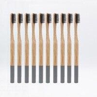 Оптовая продажа 10 шт. зубная щетка бамбуковая зубная щетка мягкое бамбуковое волокно щетина tandenborstel деревянная ручка экологически чистая з...