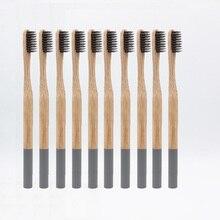 Оптовая продажа шт. 10 шт. зубная щетка бамбуковая зубная щетка мягкая бамбуковая из искусственного ворса tandenborstel деревянная ручка экологически чистая зубная щетка