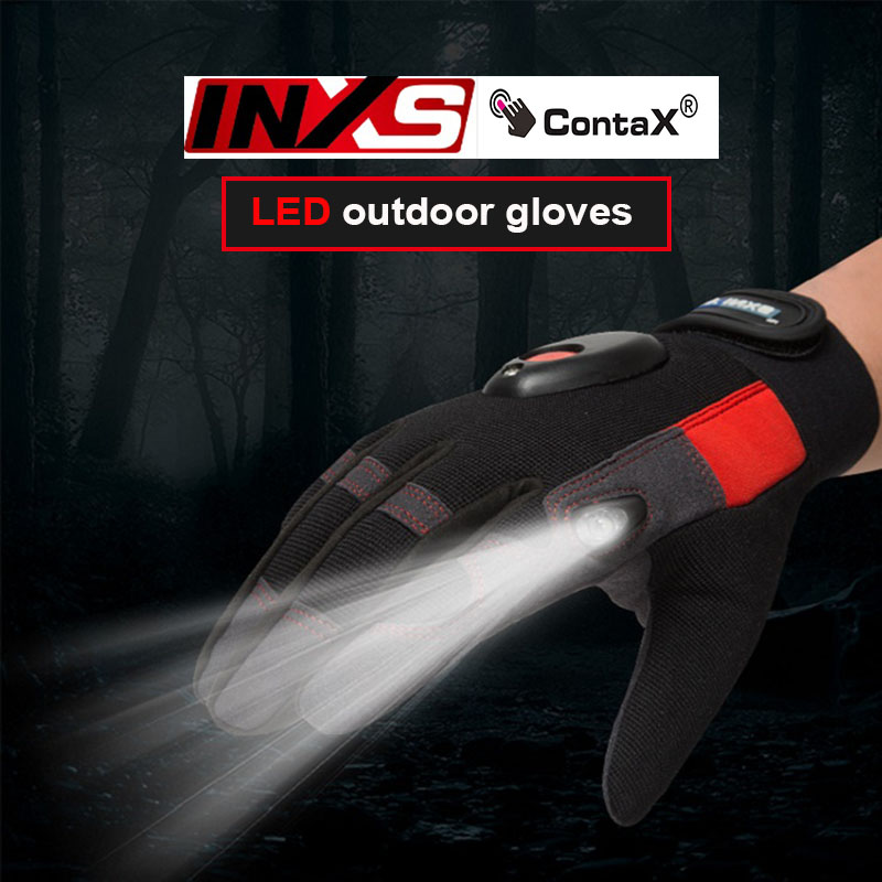 SAFETY-INXS  MAC02 Band LED Flashlight Mechanic Gloves High End Magic Buckle Magic Buckle Accident Relief  Safety Glove