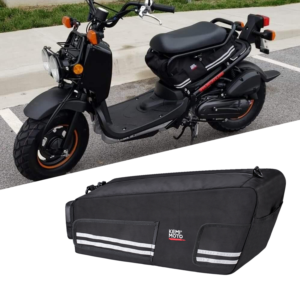 KEMiMOTO For Honda Ruckus Zoomer 2010 2019 Bag Under Seat Cargo Storage Bag Luggage Motorcycle Rear Back Seat Bags Waterproof
