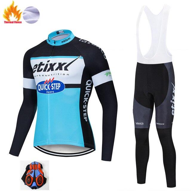 Etixxl Ciclismo Conjunto Inverno Térmico do Velo Sportswear À Prova de Vento Jaqueta Calças Ao Ar Livre Esporte Terno Homem Unisex Mulher Roupas Definir 1