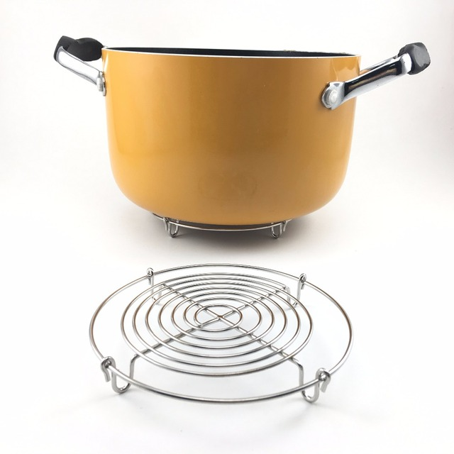 Attractive Hot Stainless Steel Cooking Pot Trivet Mats Steamer With 4 Legs  WC98