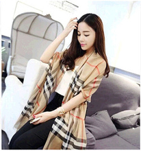 Za Winter Scarf 2016 Tartan Plaid Cashmere Scarf Pashmina New Designer Blanket Scarf Luxury Brand Women's Scarves and Wraps
