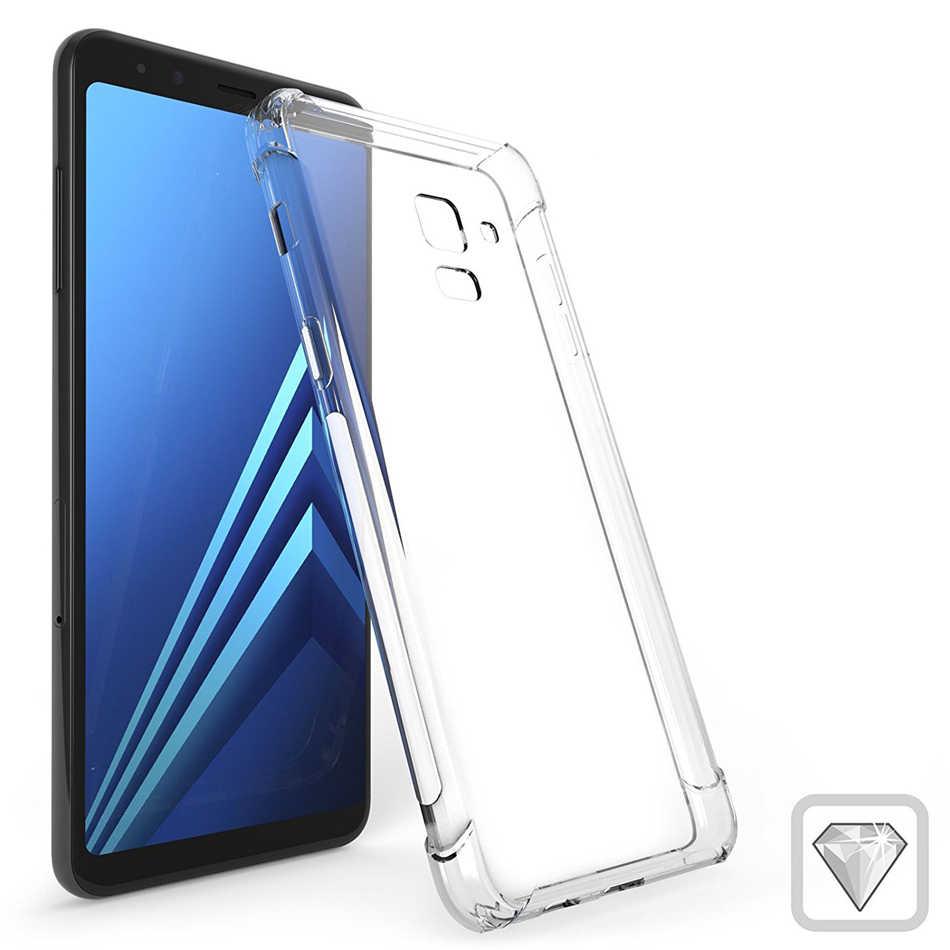 עבור סמסונג גלקסי A9 A8 A7 A6 בתוספת 2018 A3 A5 2017 2016 Slim אוויר כרית מקרה טלפון רך סיליקון TPU קריסטל ברור כיסוי