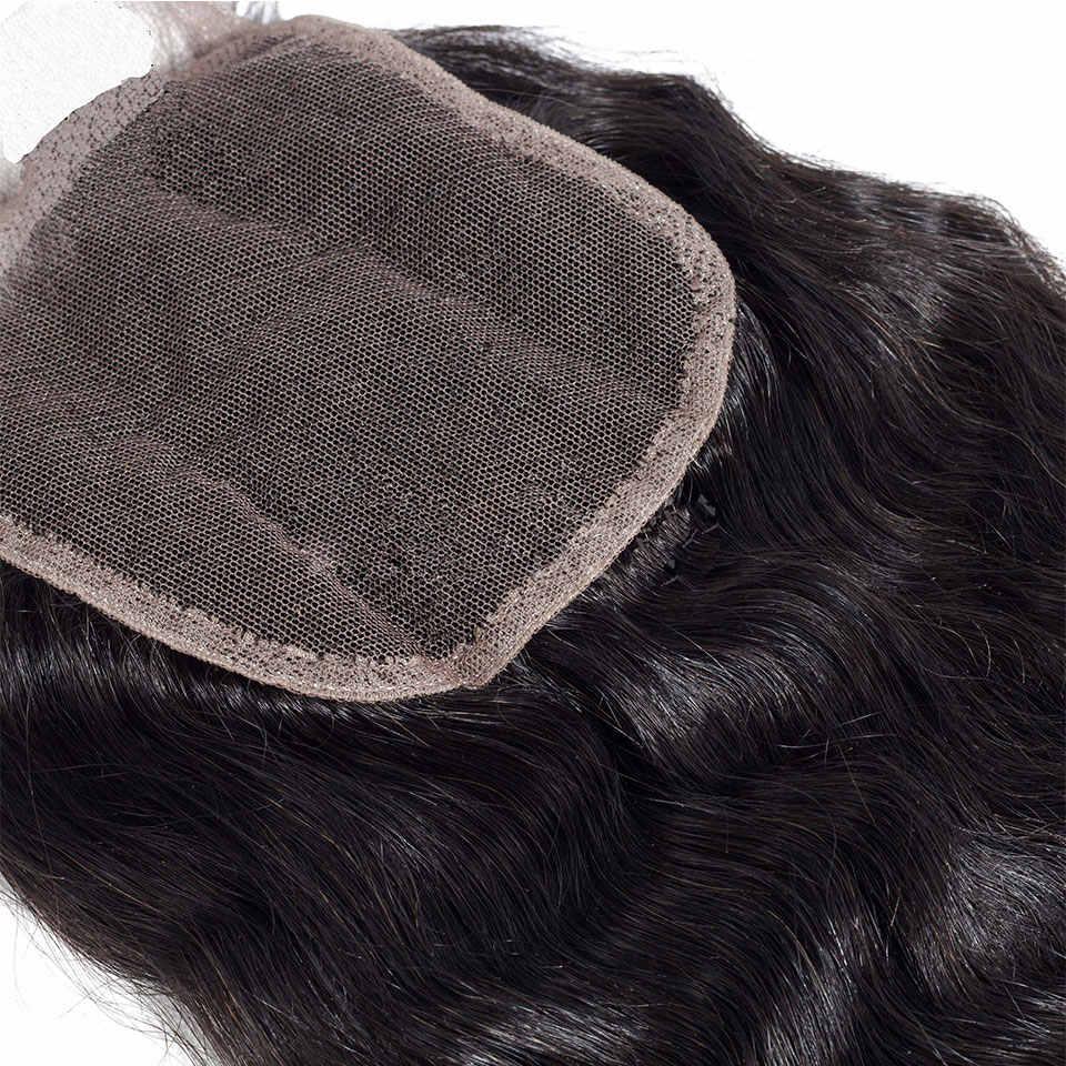 Paquetes de pelo brasileño recto rizado con cierre de cabello humano 4 paquetes con cierre belleza más pelo humano no Remy grueso yaki