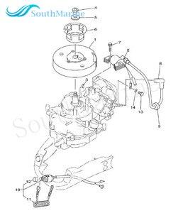 Image 5 - ボートモーター67D 85640 00 t.c.iユニットassy用ヤマハ4ストロークf4船外エンジン、点火ワインディングassy