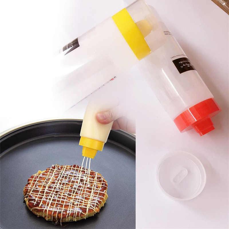 300 Ml Botol Pencet untuk Peralatan Dapur Minyak Botol Plastik untuk Saus Aksesoris Dapur Saus Tomat Cookling Alat