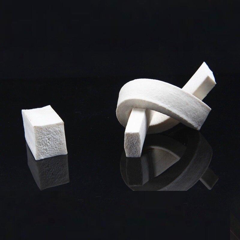 Weatherstrip Silicone Rubber Foam Sponge Bar Seal Strip Flat 15mm 20mm 25mm 30mm x 20mm 25mm 30mm 35mm 40mm 50mm 1m Creamy White