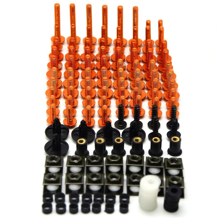 Besting sell Motorcycle Fairing Bolt Screw Nuts Washers Fastener Fixation for SUZUKI GSX-R 600 750 GSXR GSX650F 250R Full Kit
