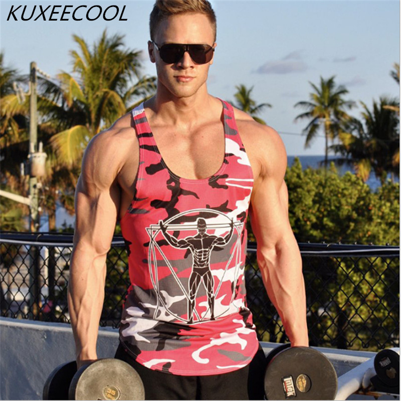 2018 Brand Men   Tank     Top   Cotton Men's   Tank     Top   Fitness Stringer Vest Sleeveless Undershirts Singlets   Top   Fitness vest