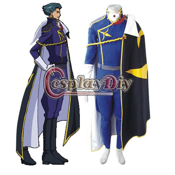 Cosplaydiy Free Shipping Customized Anime Cosplay Costume Code Geass  Jeremiah Gottwald Cosplay Costume