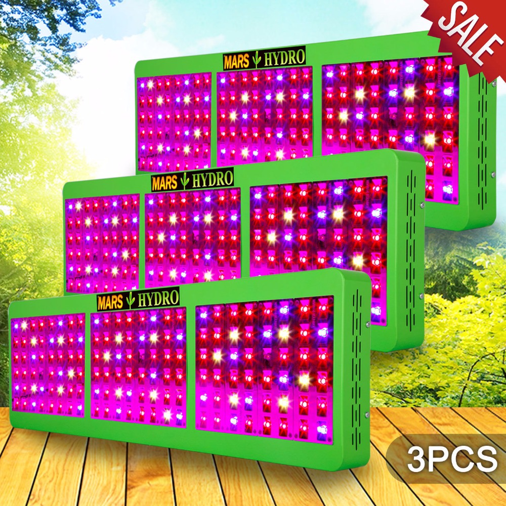 3PCS Mars Hydro Reflector 720W LED Grow Light Full Spectrum for Hydroponics&Indoor Medical Plants with Growth Bloom Switches teddy mars book 3 almost an outlaw