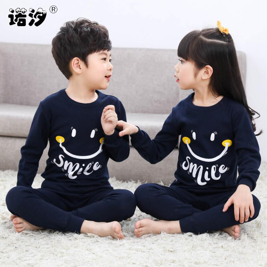 Kids Boys Sleepwear baby girl spring cotton sets Children Homewear Pajamas for Boy Pyjamas Kids Nightwear 2-13Y teenage clothes