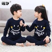 ملابس نوم مصنوعة من القطن للأطفال, بيجامات، ملابس منزلية، للأطفال من عمر 2 إلى 13 عامًا الربيع