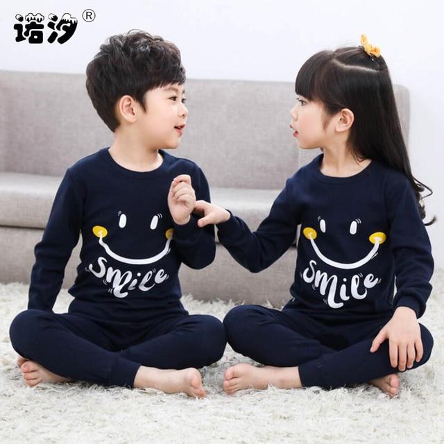 Pyjama printemps coton pour garçons et filles