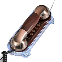 Retro Caller Flash Phone Antique Telephones Fashion Hanging Phone Mini Telephone Wall Mounted Backlight Fixe Telefonos