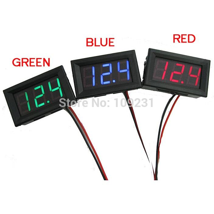 Mini 1 PC New DC 0~30V LED Panel Voltage Meter Digital LED Display Voltmeter Motorcycle Car T1105 P