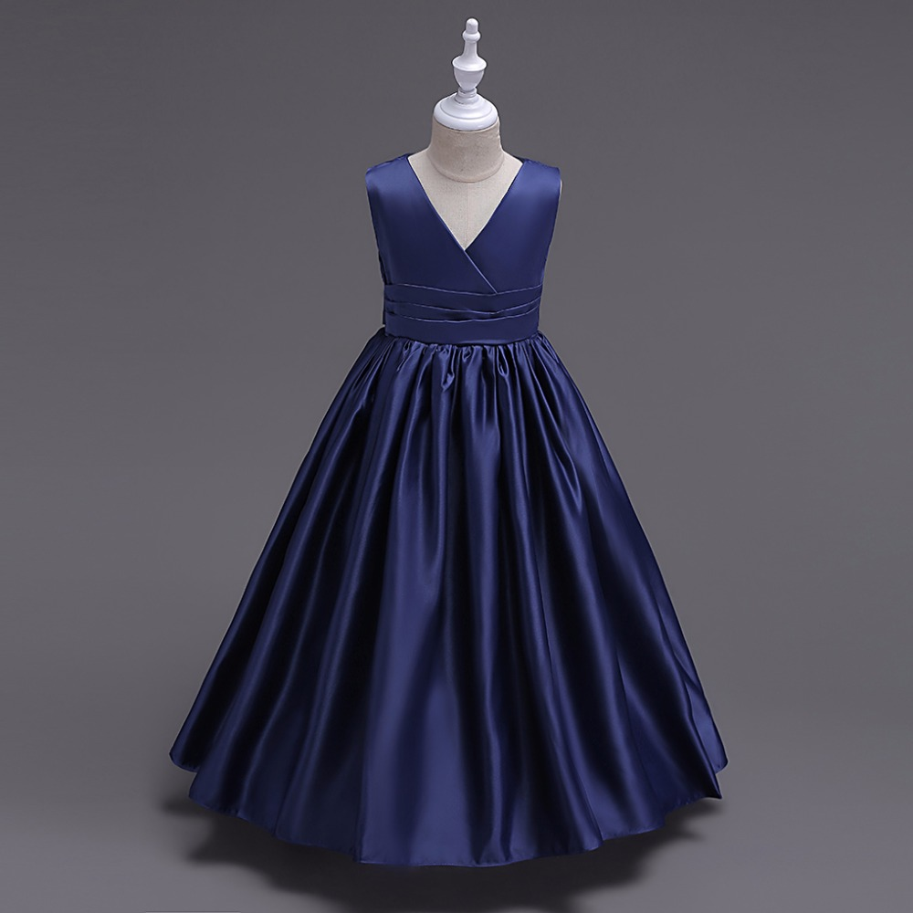 Dresses For Girls: Girls Long Wedding Dress Kids Bridesmaids Princess Dress
