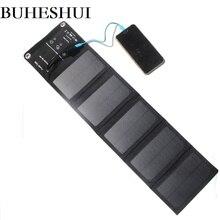 BUHESHUI 10 Вт складное солнечное зарядное устройство В 5 в USB выходное устройство портативное солнечное зарядное устройство для смартфонов на открытом воздухе Camp waterproof