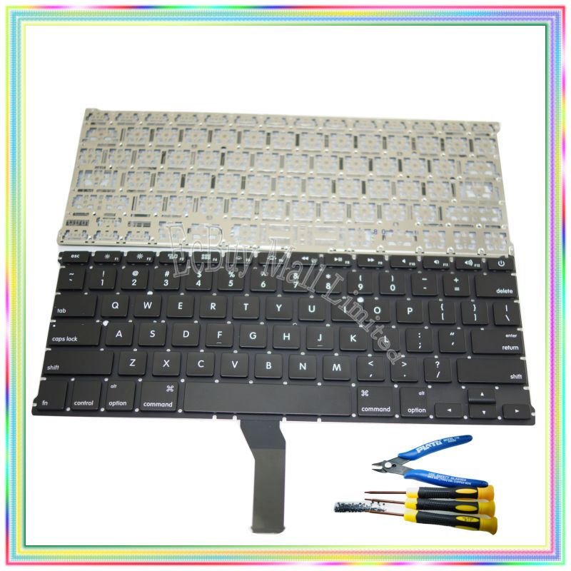 """Brand new US Keyboard without Backlight & keyboard screws screwdriver tools for Macbook Air 13.3 inch"""" A1369 A1466 2011-2015 Years"""""""