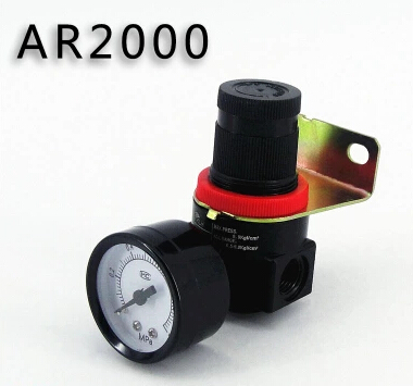 AR2000 Air Control Compressor Pressure Gauge Relief Regulating Regulator Valve 1pc air compressor pressure regulator valve air control pressure gauge relief regulator 75x40x40mm