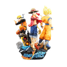 Jump Force Luffy Son Goku Naruto Action Figures 1/8 scale painted figure Collectors Edition Statue PVC Toys Brinquedos