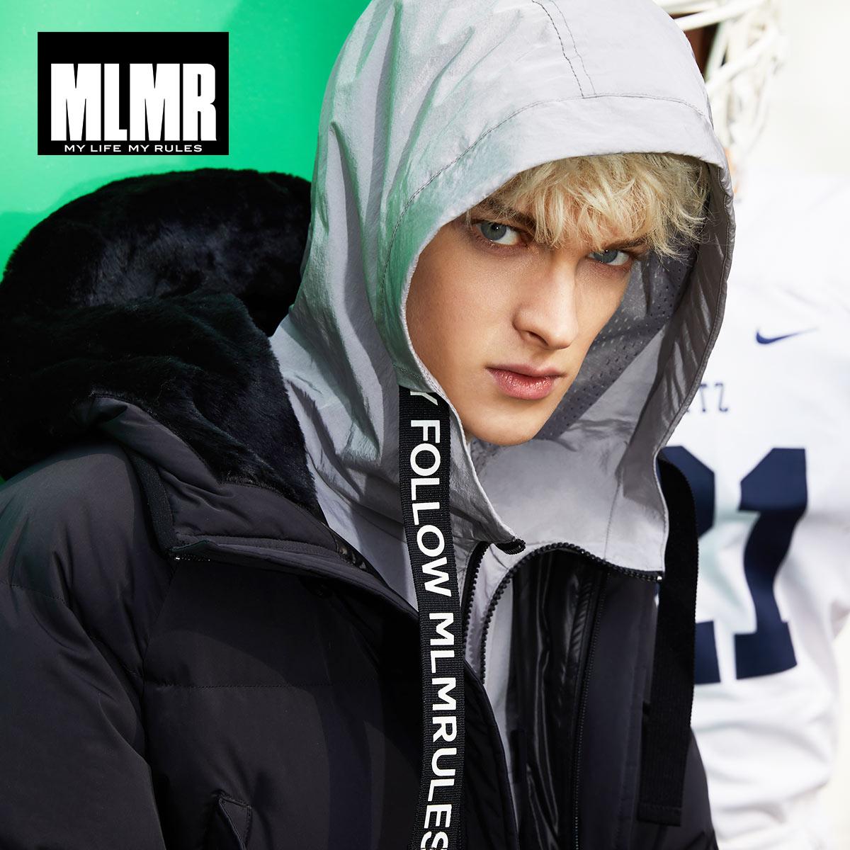 MLMR 2019 ใหม่กลางยาวลงเสื้อฤดูหนาวเสื้อหนา warm parka  218312504-ใน เสื้อกันลม จาก เสื้อผ้าผู้ชาย บน   3