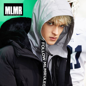 Image 3 - MLMR  mens Hooded mid  long winter coat Thicken warm parka