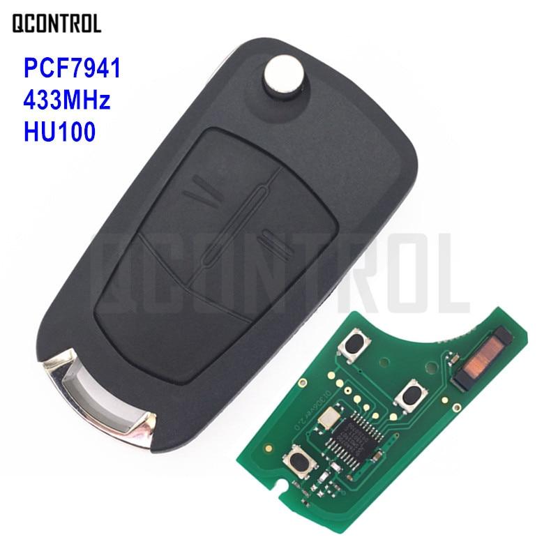 QCONTROL Vehicle Remote Key G1-AM433TX Fit for Opel/Vauxhall Corsa D 2007-2012, Meriva B 2010-2013