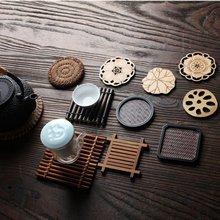 Китайский чай ism мульти-дизайн тихонько элегантная подставка для чайных чашек коврик для чайного стола декоративная подставка для чайных чашек принадлежности для чайных церемоний