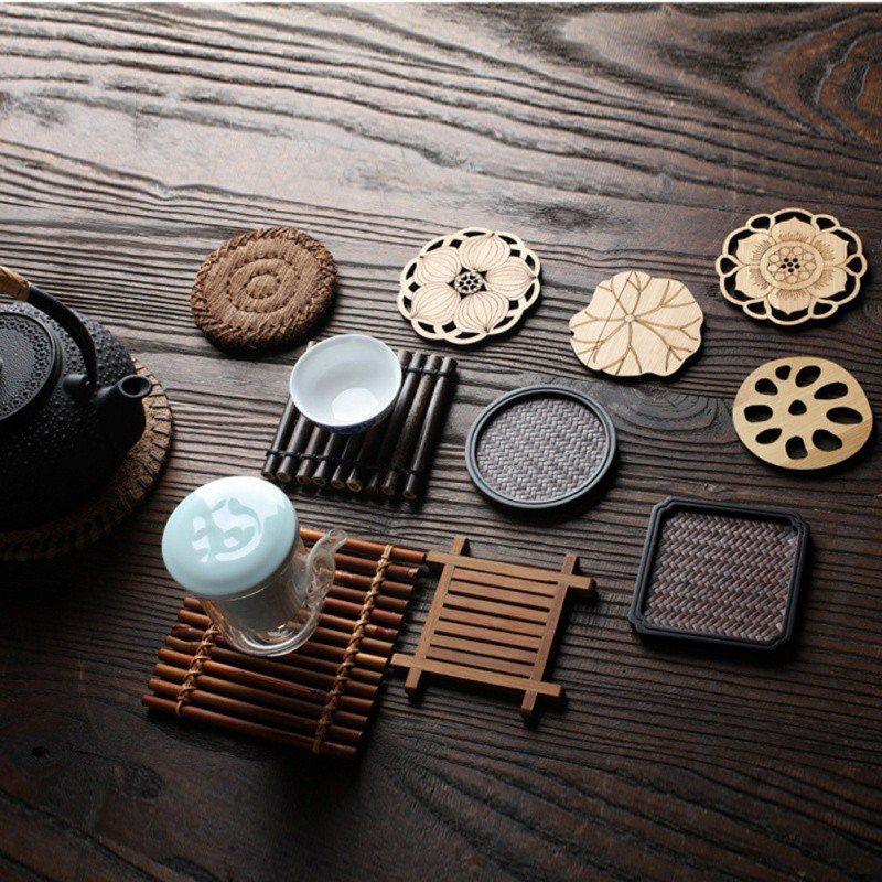 Китайский чай ism мульти дизайн тихий элегантный подстаканник для чая коврик для чайного стола декоративная подстаканник для чайной чашки принадлежности для чайной церемонии|Коврики и подложки|   | АлиЭкспресс